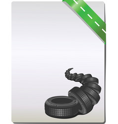 car tire on grey background vector image