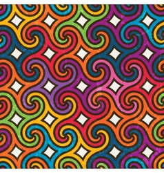 Colorful geometric pattern with spirals vector image