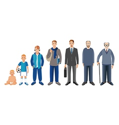 Man generation from infant to senior vector image