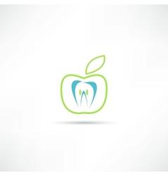 teeth icon vector image vector image