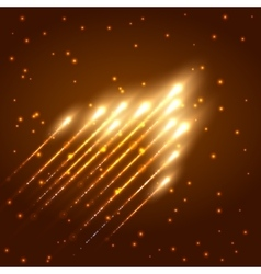 Abstract shining meteor background vector image vector image