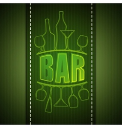 bar list design vector image