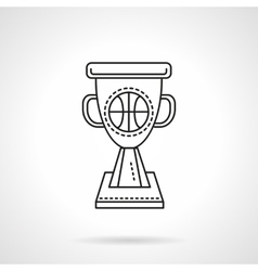 Basketball winner cup flat line icon vector image vector image