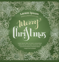 christmas chalk background with holly berries vector image