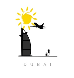 dubai icon travel vector image
