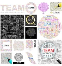 TEAM vector image vector image