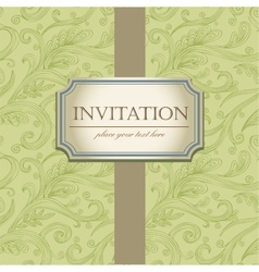 Template frame design for Invitation vector image vector image