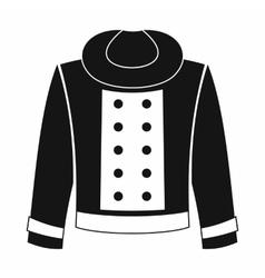 Female jacket icon simple style vector image