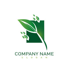 landscaping company icon vector image