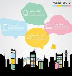 Network communication city vector image vector image