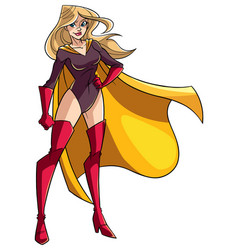 superheroine standing tall vector image