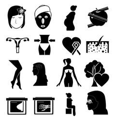 women health icons vector image