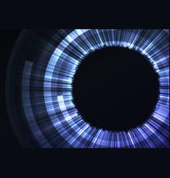 blue circle digital eye abstract background vector image vector image