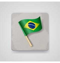 Brazil flag icon vector image vector image
