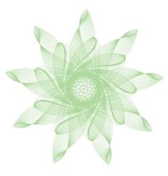 green abstract mandala vector image vector image