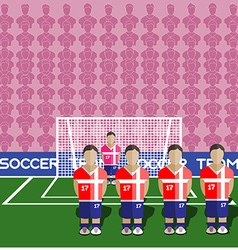 Serbia Soccer Club Penalty on a Stadium vector image vector image