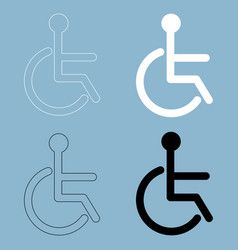 sign of the disabled the black and white color vector image vector image