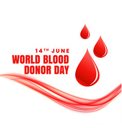 14th june world blood donor day concept poster vector
