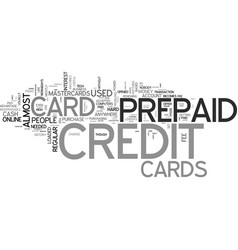 a credit free card what is a prepaid credit card vector image