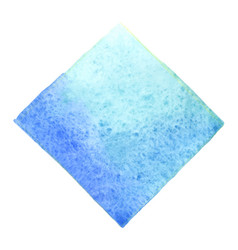abstract light blue square banner watercolor vector image