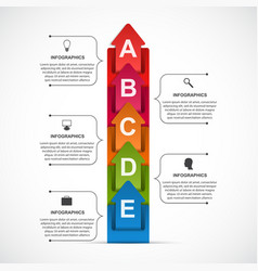 abstract options infographic template for vector image