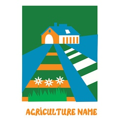 Agriculture emblem for the eco farm vector