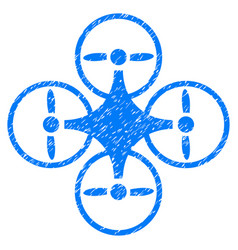 Air copter grunge icon vector
