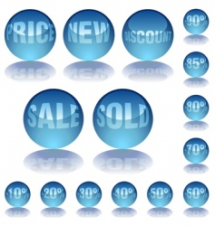 aqua glass prices vector image