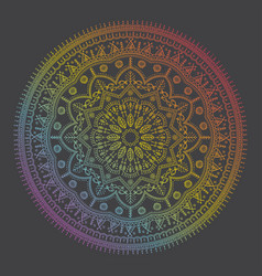 Beautiful ethnic mandala with a floral pattern vector