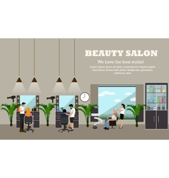 Beauty salon interior concept banners Hair vector image