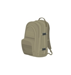 Beige Backpack Isolated on White vector image