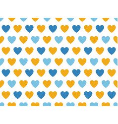Blue and yellow heart shape pattern vector