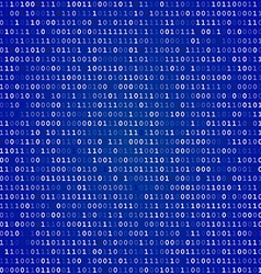 Blue screen binary code screen vector image