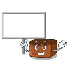 Bring board brownies character cartoon style vector