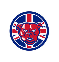British bulldog union jack flag icon vector
