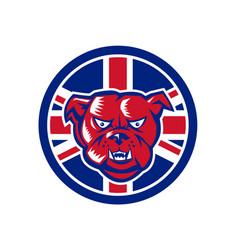British bulldog union jack flag icon vector