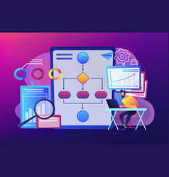 Business process automation bpa concept vector