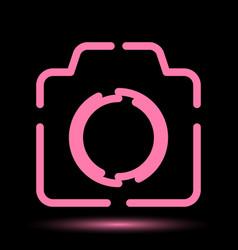 Camera neon icon vector