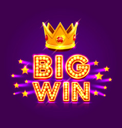 Casino banner big win super star vector