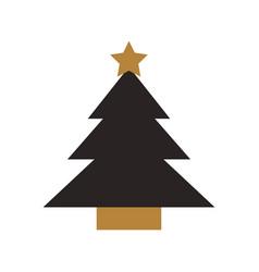 Christmas tree pine star decoration cartoon vector