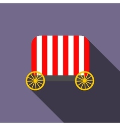 Circus wagon icon flat style vector