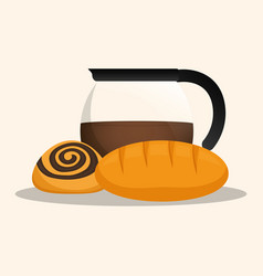 coffee maker products bakery vector image