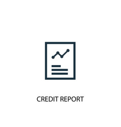 credit report icon simple element vector image