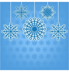 Decorative snowflakes postcard with place for tex vector