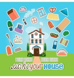 Designer house vector