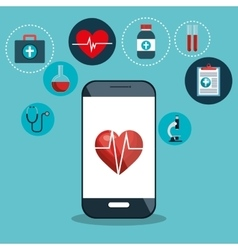 digital healthcare cardio app graphic design vector image