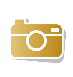 digital photo camera sign golden gradient vector image