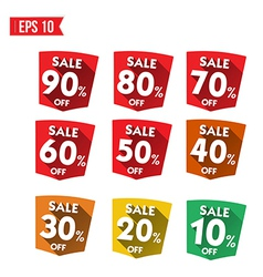 Discount tag flat and long shadow design vector image