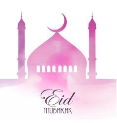 Eid mubarak background vector