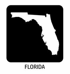 Florida map icon vector